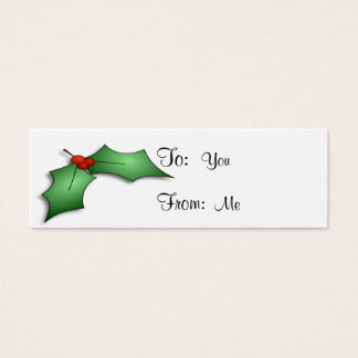Holly and Berries Mini Business Card