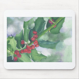 Holly and Berries Mouse Pad