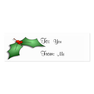Holly and Berries Pack Of Skinny Business Cards