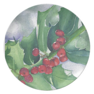 Holly and Berries Plate