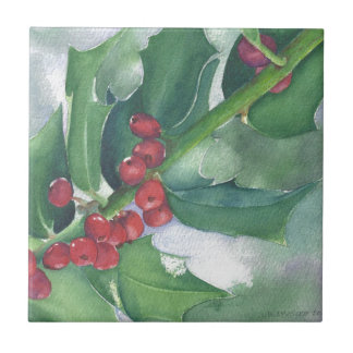 Holly and Berries Tile