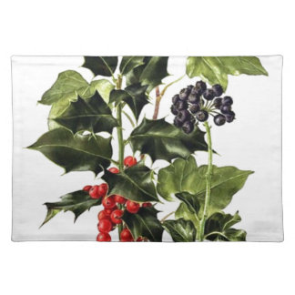 holly and ivy design Christmas Placemat