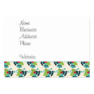Holly and Jingle Bells Retro Christmas Pattern Pack Of Chubby Business Cards