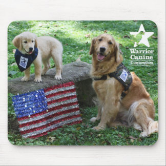 Holly and pup mousepad