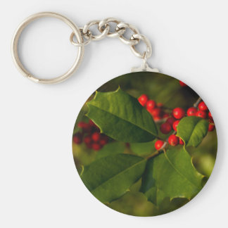 Holly Basic Round Button Key Ring