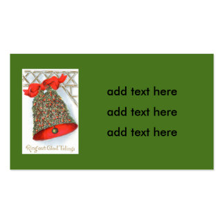 Holly Bell Red Ribbon Glad Tidings Pack Of Standard Business Cards