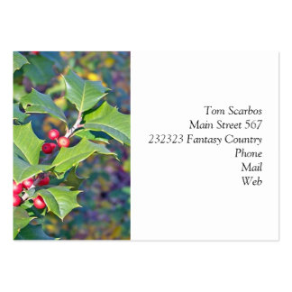 holly berrie,nature business card templates