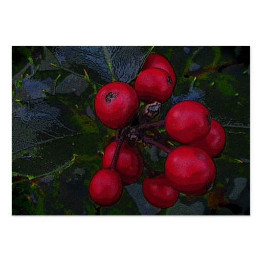 Holly Berries ATC Business Card Template