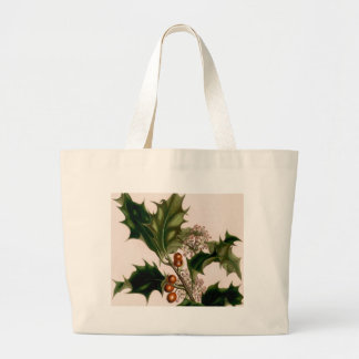 Holly berries canvas bag