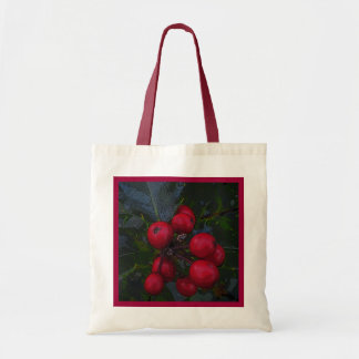 Holly Berries Budget Tote Bag