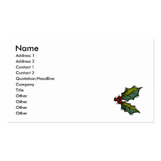 Holly & berries pack of standard business cards