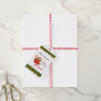 Holly Berries Christmas and Candy Canes Gift Tags
