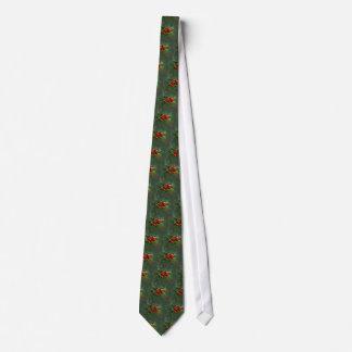 Holly Berries Christmas Greetings Tie