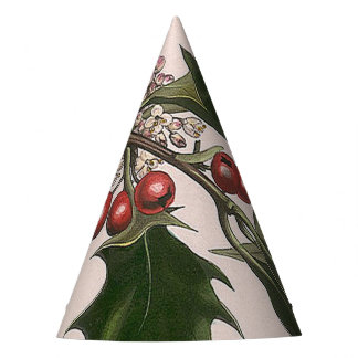 holly berries party hat