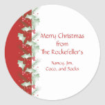 Holly Berries Personalised Christmas Stickers