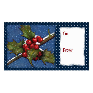Holly, Berries, Snow: Christmas Gift Tag Pack Of Standard Business Cards