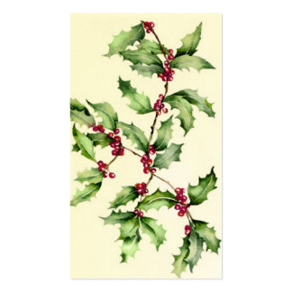 Holly Berries Tag Business Card