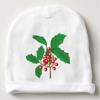 Holly Berry Baby Beanie