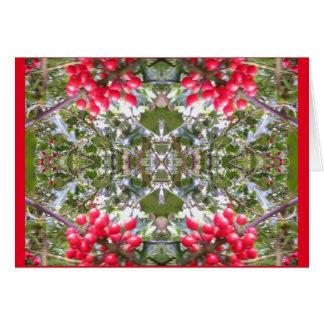 Holly Berry Card 803 Crystal - Seasonal Cheer