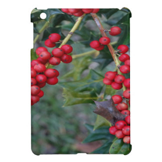 Holly berry cover for the iPad mini