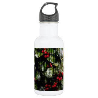 Holly Berry Custom Water Bottle