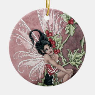 Holly Berry Faery Ornament