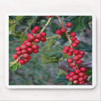 Holly berry mouse pad