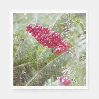 Holly Berry Napkins Disposable Napkins