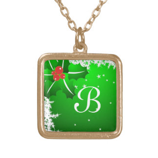 Holly Berry on Ice Gold Plated Necklace