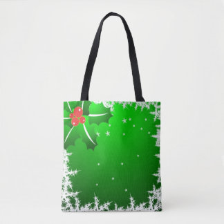 Holly Berry on Ice Tote Bag