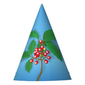 Holly Berry Party Hat