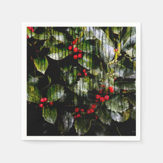 Holly Berry Party Napkins Paper Napkin