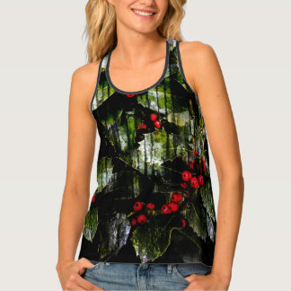 Holly Berry Womens Tank