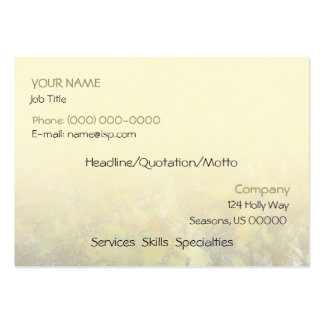 Holly Bush Pale Yellow Business Card