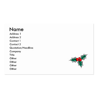 Holly Pack Of Standard Business Cards