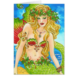 HOLLY BY THE SEA CARD