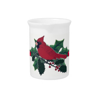 Holly Cardinal Pitcher