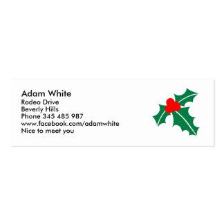 Holly christmas business card