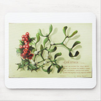 Holly_Christmas_card_ Mouse Pad