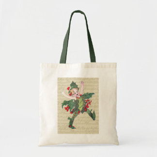 Holly Christmas Fairy Tote Bags