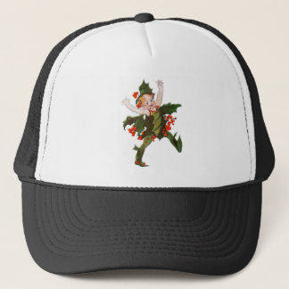 Holly Christmas Flower Child Cute Vintage Floral Trucker Hat