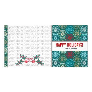 Holly Christmas Photo Card {4 x 8}