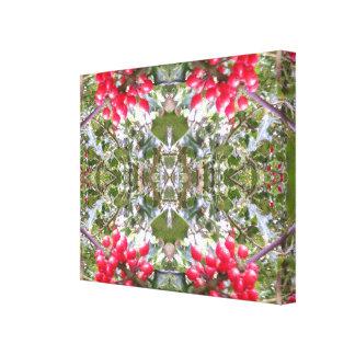 Holly Crystal Photo Fractal Canvas Print