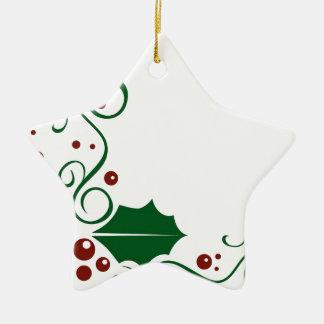 Holly Daze Ceramic Ornament