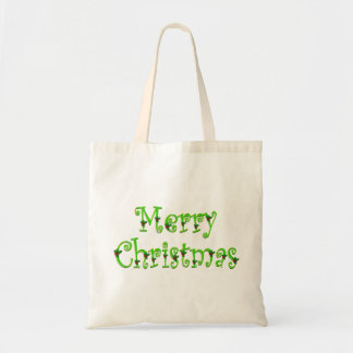 Holly Decked Merry Christmas Tote Budget Tote Bag