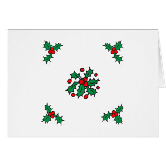 Holly Design Greeting Card