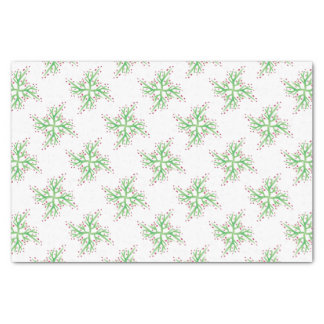 holly design gift wrapping tissue paper
