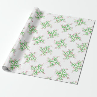 holly design gift wrapping wrapping paper