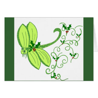 Holly dragonfly note card