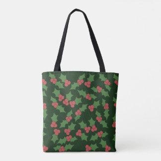 Holly Festive Christmas Tote Bag